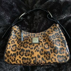 Dooney & Bourke Leopard Print Satchel/Shoulder Bag